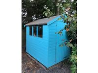 Garden Shed 5' x 7' Painted Blue