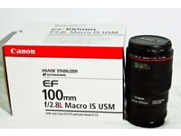 Canon 100mm macro f2.8 is L