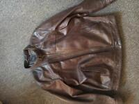 Men's Brown Real Leather Jacket XL