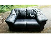 2 × 2 seater leather sofas