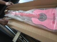 Girls pink guitar bnib