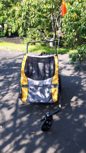 Instep 2 in 1 double  stroller /bike hitch
