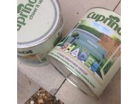 2 tins of cuprinol- colour seagrass- fence paint waterproof price for both tins