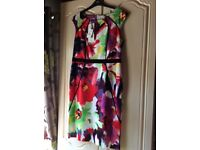 Size 14 multi coloured dress bnwt