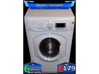 LCD, 1600, A+ Rated, Silent Hotpoint Washer Dryer, Big 8Kg, Fully Refurbished inc 6 Months Warranty