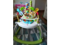 Baby jumperoo bouncer space saving fisher price rainforest friends