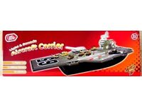 Large Aircraft Carrier Playset - With Lights and Sounds - Brand New