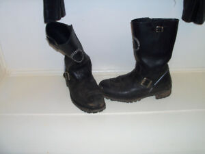 size 11 harley boots with shifter patch solid
