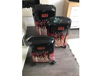 Kiss band luggage 2 different designs and 3 sizes rare collectiblbles BNWT