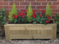 Wooden garden planter Trough T&G Decking planters Vegetable / Herb / window box
