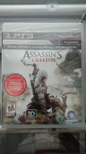 Brand New Sealed Assasin's Creed 3 Special Edition Sony PS3 Game