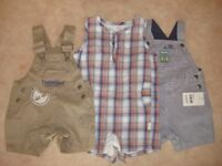 3 dungarees size 3-6m