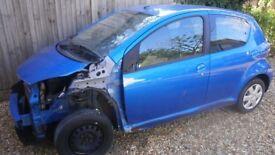 2010 Toyota AYGO Blue 5 Dr Hatchback 1.0 VVT-i (Cat D). Starts and drives.
