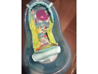 For Sale Fisher Price Baby Bath set with removable sling and back support