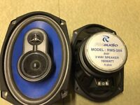 "RM AUDIO 6x9"" CAR SPEAKERS X2"