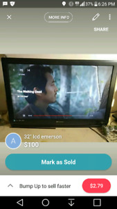 "32"" emerson lcd HD tv"