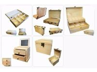 Brand new Wooden Boxes over 15 styles to choose from craft blanks plain wooden gift boxes Leicester