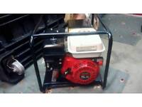 GENUINE HONDA GX160 5.5HP PETROL GENERATOR 110 VOLT TWIN SOCKETS 16 and 32 amp RUNS LOVELY