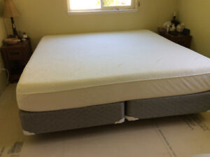 Tempur-Pedic Mattress, box springs & Low Profile Frame-King Size