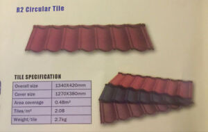 Colour stone coated metal roof tiles