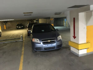 Indoor parking spot only 50 meters to City Hall c-train station