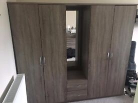 Portland 4-Door, 2-Drawer Combi Wardrobe
