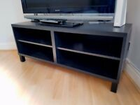 SUPERB BROWN TV BENCH, PERFECT CONDITION, AS NEW!!