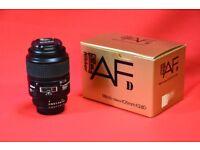 Nikon AF-D Micro 105mm f/2.8D Lens £300
