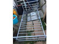 Quality Single Metal Bed Frame Mattress Kids Child Teenager Student Bedroom Landlord Rental