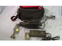 PANASONIC NV-G2E CAMCORDER AND ACCESSORIES.