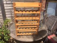 Pine Wood Wine Rack