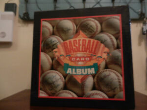 Baseball Card Collectors Album Binder and 45 Protective Pages
