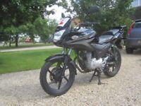 Black Honda CBF 125cc
