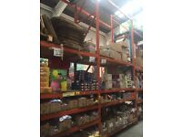 Pallet Racking available for warehouse with wooden boards very good condition