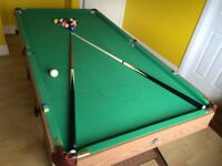 6ft snooker/pool table - folds up when not in use