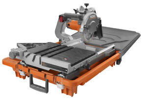 "New Ridgid 10"" Tile & Stone Saw  Lifetime warranty NEVER USED"