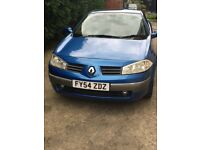 2004/54 Renault Megane Covertible, 1.6 Petrol SERVICE HISTORY
