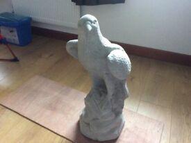 Concrete garden eagle ornament