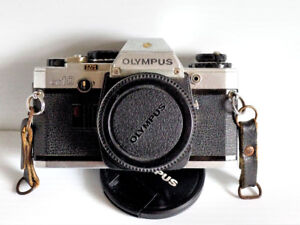 OLYMPUS 35mm FILM CAMERA WITH MANUAL ADAPTER