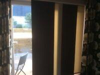Patio window blind panel blind