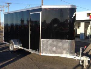 12x7 Aluminum Enclosed Cargo Moving Trailer For Rent Rental