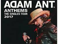 *Row C* 2x Adam Ant Seated Tickets Camden Roundhouse London 21st December 2017
