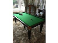 SOLD Beautiful Snooker/Pool Table 7'x4'