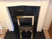 Electric fire, surround and fireplace for sale