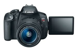 Canon T5i - comes with 18-55mm lens, 55-250mm, and bag