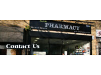 Medicines counter assistant required for a modern pharmacy.