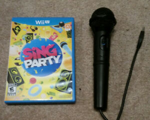 Sing Party for the WiiU. Includes Nintendo official microphone