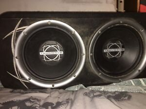 """12"""" bassworx subs and amp"""