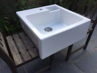 Large Butler Sink with small slop bowl - only one year old and as good as new.