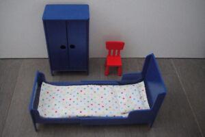5 pc Set Doll House Furniture bed Set Kids